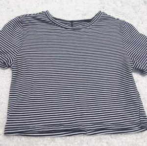 Pacsun Basics Striped Black and White Crop Top